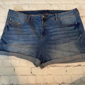 Refuge cuffed denim shorts